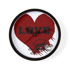 love_skull_dark Wall Clock
