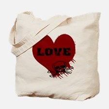 love_skull_dark Tote Bag