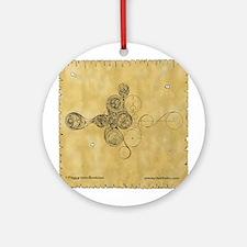 Celtic Spiral Manuscript Ornament (Round)
