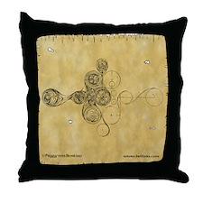 Celtic Spiral Manuscript Throw Pillow