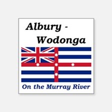 "Albury-Wodonga Square Sticker 3"" x 3"""