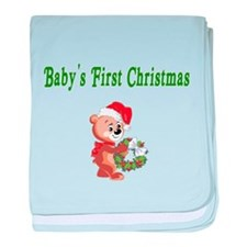 Babys First Christmas baby blanket
