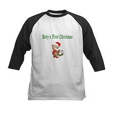 Babys First Christmas Baseball Jersey