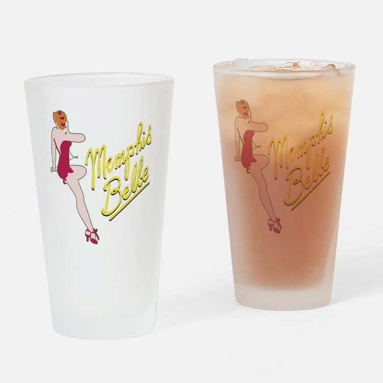 red_belle_b-17 Drinking Glass