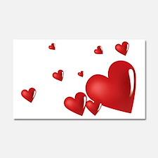 heart04 Car Magnet 20 x 12
