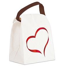 heart03 Canvas Lunch Bag