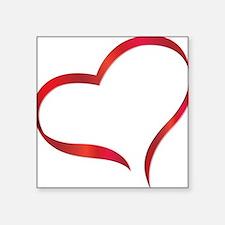 """heart03 Square Sticker 3"""" x 3"""""""