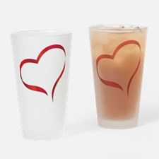 heart03 Drinking Glass