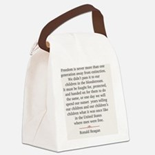 jan11_reagan_quote Canvas Lunch Bag