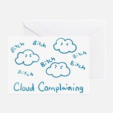 cloud-complaining Greeting Card