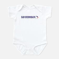 Sam Brownback for president Infant Bodysuit