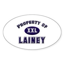 Property of lainey Oval Decal