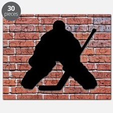 Hockey Goalie Brick Wall Puzzle
