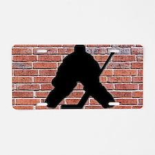 Hockey Goalie Brick Wall Aluminum License Plate