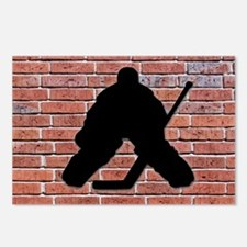 Hockey Goalie Brick Wall Postcards (Package of 8)
