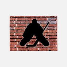 Hockey Goalie Brick Wall 5'x7'Area Rug