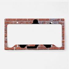 Hockey Goalie Brick Wall License Plate Holder