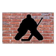 Hockey Goalie Brick Wall Decal