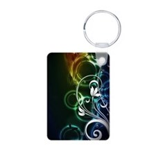 Black Neon Floral (3G) Keychains