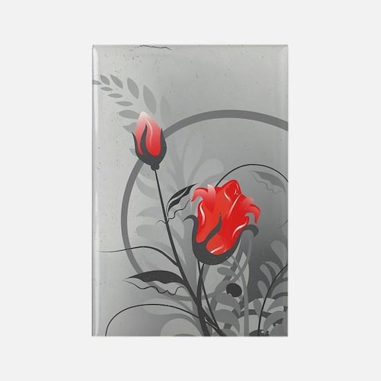 Rose (3G) Rectangle Magnet