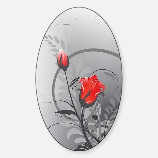 Rose (3G) Sticker (Oval)