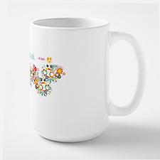 hippie-chick-long-walll Large Mug