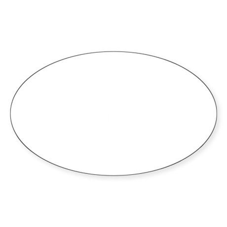 QueenoftheBonspielDarkTee Sticker (Oval)
