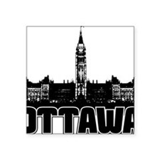 "Ottawa Skyline Square Sticker 3"" x 3"""
