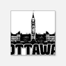 "Ottawa Skyline Square Sticker 3"" x 3"""