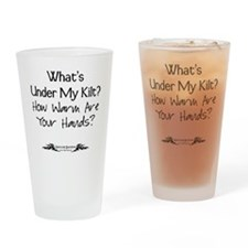 Under Kilt Drinking Glass
