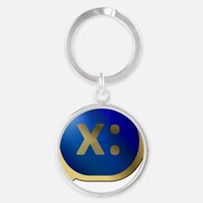 Bubble-Gold-BlueCrush-Left-Umm Round Keychain