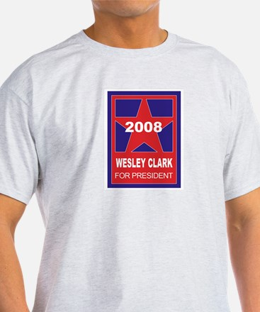 Wesley Clark for President (s Ash Grey T-Shirt