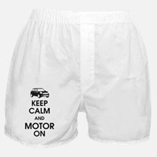 Keep Calm and Motor On Mini Boxer Shorts
