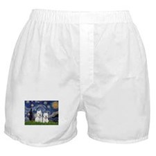 Starry-2Westies (custom) Boxer Shorts