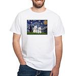 Starry-2Westies (custom) White T-Shirt