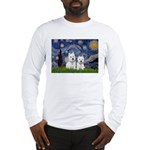 Starry-2Westies (custom) Long Sleeve T-Shirt