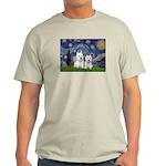 Starry-2Westies (custom) Light T-Shirt