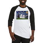 Starry-2Westies (custom) Baseball Jersey