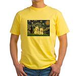 Starry-2Westies (custom) Yellow T-Shirt