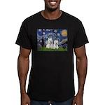 Starry-2Westies (custom) Men's Fitted T-Shirt (dar
