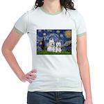 Starry-2Westies (custom) Jr. Ringer T-Shirt