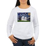 Starry-2Westies (custom) Women's Long Sleeve T-Shi