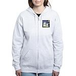 Starry-2Westies (custom) Women's Zip Hoodie