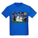 Starry-2Westies (custom) Kids Dark T-Shirt