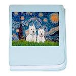 Starry-2Westies (custom) baby blanket