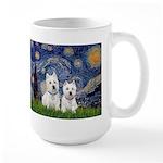 Starry-2Westies (custom) Large Mug