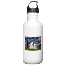 Starry-2Westies (custom) Water Bottle