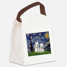 Starry-2Westies (custom) Canvas Lunch Bag