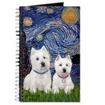Starry-2Westies (Custom) Journal