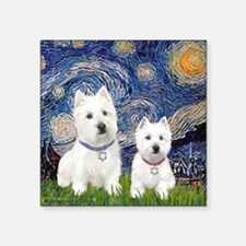 Starry-2Westies (Custom) Square Sticker 3&Amp;Quot